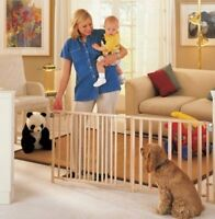 North States Extra Wide Swing Dog Pet Baby Child Gate over 8 1/2 ft. Wide NS4649