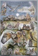 OWLS NIGHT RAPTORS Sheet Stamp Czech Republic 2012 ** MNH