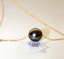 New Japan design 11.7mm Tahitian saltwater pearls with 18k solid gold necklace
