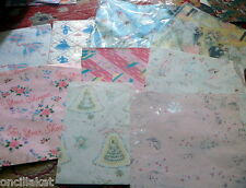 Vintage 40s-50s Gift Wrap Sheets Lot Gift Wrapping Paper WEDDING BRIDAL SHOWER
