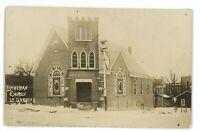 RPPC Lutheran Church LA GRANGE IN Indiana Real Photo Postcard