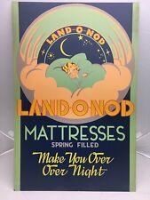 Vintage Land O Nod Mattress Advertizing Art