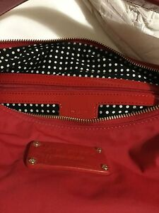 NEW w/ Defect Kate Spade Red Nylon Tote Handbag