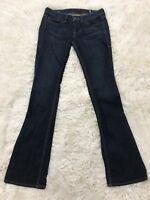 William Rast Jeans Size 28 Women's Stella Straight with Boot Cut Dark Wash