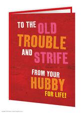 femme anniversaire carte de voeux Humour Comédie COCKNEY COQUIN Nouveauté blague