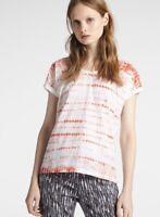 SANDWICH T-shirt w/ Subtle Batik Print CORAL Summer NEW  rrp £39 XL UK 16