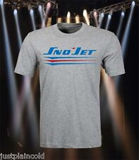 Sno-Jet vintage snowmobile style t-shirt with three swoosh logo
