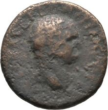 Ancient Rome 69-79 AD VESPASIAN Large AE AS VICTORY PROW