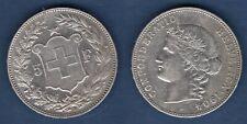Suisse 5 Francs 1904 Bern Argent TTB + - Swiss Helvetia