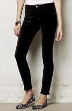 NWT Anthropologie AG black Velvet Stretch Serif Legging Skinny Jeans 26