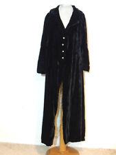 1930's Black Silk Velvet Opera Coat SM