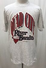 New Vintage Quad City River Bandits MiLb Heather Gray Cotton Shirt Men's Large