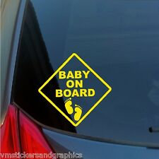 Baby on Board footprints Caution Sign vinyl sticker drive driver warning safety