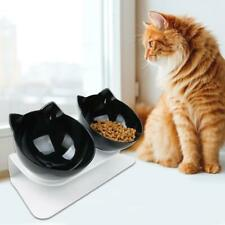 Non-slip Cat Double Bowls with Raised Stand Pet Food Water Bowl Dog Cats Feeder