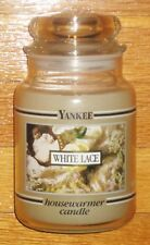 Yankee Candle - 22 oz - WHITE LACE - Black Band - VERY RARE AND HARD TO FIND!!