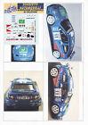 Decals 1/43e Renault Maxi Mégane Longhi Rallye 111 Minuti 2001