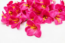 30pcs Lily flower Head Artificial Silk Flower Heads Wedding Dia 5cm Rose red
