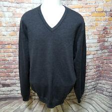 Brooks Brothers 346 HOMME Mélange de Laine Mérinos Pull Col V Taille XL B05-10