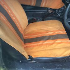 Mgb Gt Seats Front and Rear Orange Cloth Breaking Classic Parts
