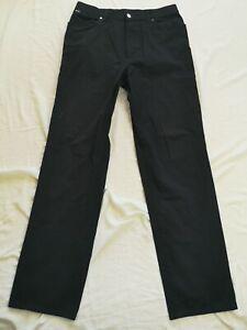Hugo Boss Men's Black Yukon Stretch Trousers Size W32 L34 Used Condition