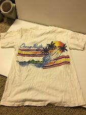 VTG OP OCEAN PACIFIC SURF Skate T-SHIRT 2 Sided Graphic Made in USA Sz M Beach
