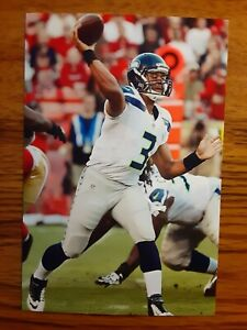 Russell Wilson Seahawks Football 4x6 Game Photo Picture Card