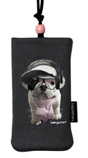 """TEO JASMIN """"Groove"""" Pouch/Sock/Case/Bag Grey Dog iphone, camera, New & Boxed"""
