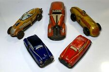 Litho Tin Wind-up Toy Cars by Automatic Toy Co. and Louis Marx & Company; USA