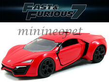 JADA 24037 FAST AND FURIOUS 7 LYKAN HYPERSPORT SUPERCAR 1/32 DIECAST RED