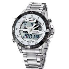 WEIDE Luxury Men's Analog LED Digital Day & Date Display Waterproof Wrist Watch