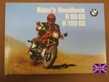 BMW r80gs r100gs Owners Manual Riders Manual