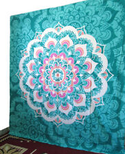 Queen Size Floral Wall Decorative Tapestry Indian Mandala 100%Cotton Bedspread