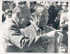 1970 Auburn Pres Harry Philpott & Bob Hope Football Game w GA Tech Press Photo
