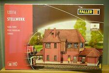 """Faller HO 120116 Stellwerk  """"Lasercut""""     NEU & OVP"""