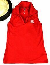 Nebraska University Size Small Women's Top Red Sleeveless NU V Neck