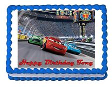 Lightning McQueen Cars edible cake image cake topper party decoration