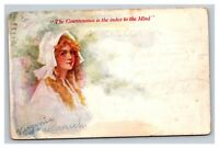 Vintage 1908 Postcard The Countenance is the index to the mind Girl in Bonnett