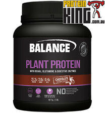 BALANCE PLANT PROTEIN 1KG CHOCOLATE NATURAL VEGAN GLUTEN DAIRY SOY FREE BCAA BSC