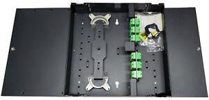 48 Fiber Dual Door Wall Mount, 24 SC/APC Duplex Adapters, Patch Only Singlemode