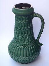 CARSTENS 7166-30 Keramik Vase Relief grün rar - Mid Century West German Pottery