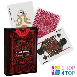 Star Wars Dark Side Theory 11 Spielkarten Deck Magische Tricks Poker Rot Neu