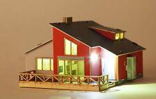 Garden House / Wooden + Paper model kit / Led