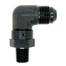 1/2 NPT BLACK SWIVEL to AN12 JIC Flare 90 DEGREE ELBOW Oil Hose Fitting Adapter