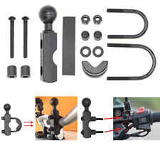 "1"" Ball Motorcycle Handlebar Mount Base U Bolt Hoop Bracket Kit For Phone Holder"