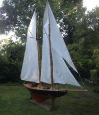 """UNIQUE ! maquette voilier américain """"WESTWARD"""" de l'AMERICA CUP - 4,40m de long!"""