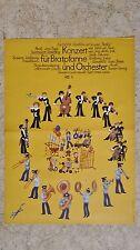 (D71) DDR-Plakat KONZERT FÜR BRATPFANNE UND ORCHESTER - DEFA Grafik: Hennig 1976