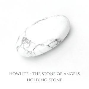 NEW Howlite Gemstone Stone of Angels Holding Palm Stone SOA04