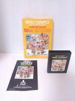 Video Olympics Atari 2600 Game Cartridge with Box & Manual Fast Shipping