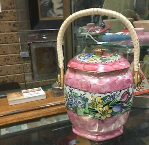Beautiful Vintage Maling Biscuit Barrel