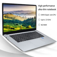 LHMZNIY A8 15.6 inch intel Quad Core J3455 8G RAM Webcam Student Laptop Notebook